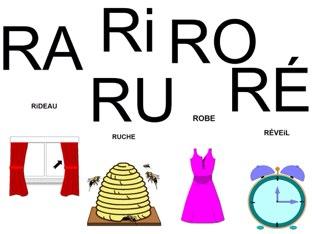 Mots à compléter avec RA Ri RO RU RÉ. by Valerie Escalpade