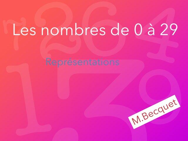 Les nombres de 0 à 29 - Représentation by Taz dunord