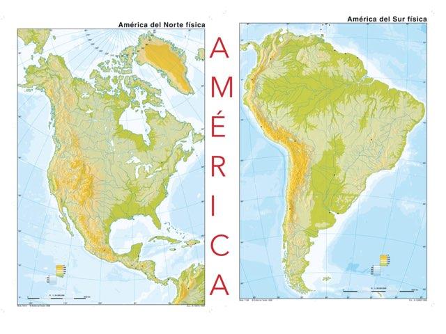 América FÍSICA  by MªÁngeles Porras Villalba