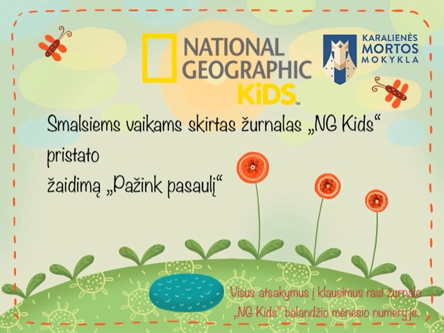 """""""Pažink pasaulį"""" NG Kids ir KMM by Sandra Kriukaitė"""