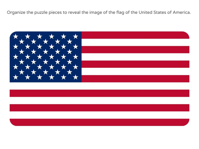 USA Flag puzzle by Julio Pacheco