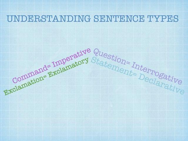 Understanding Sentence Types by Krystal Wiggins