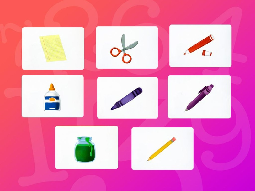 Unit 1 Betty (school supplies) - puzzle by Play & Learn English School