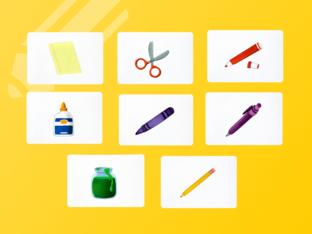 Unit 1 Betty (school supplies) - question by Play & Learn English School