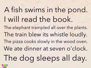 Verb sentences by Ashleigh Britt
