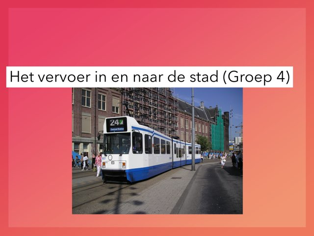 Vervoer in en naar de stad. by Wieke Jasper