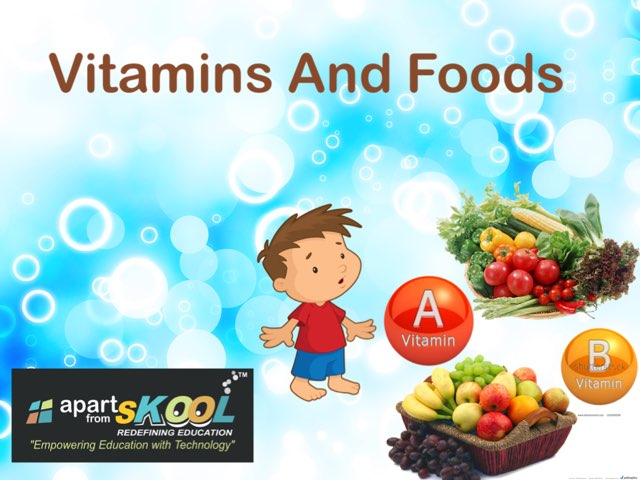 Vitamins And Foods by TinyTap creator