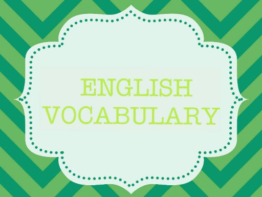 Vocabulary by Sandra Mestre
