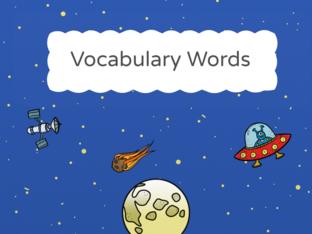Vocabulary Words by Blancaflor Hernandez