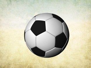 Voetbal by terra van Palmhoven