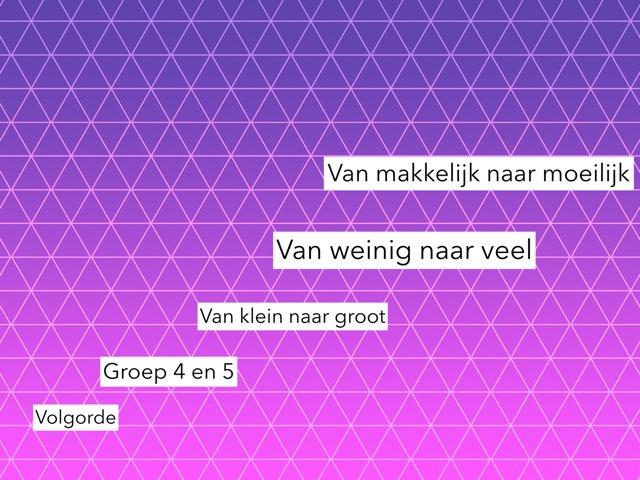 Volgorde Groep 4 en 5 by Wieke Jasper