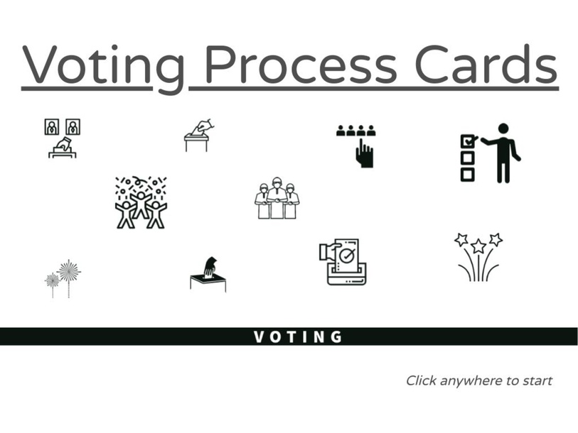 Voting Process Cards by Julio Pacheco