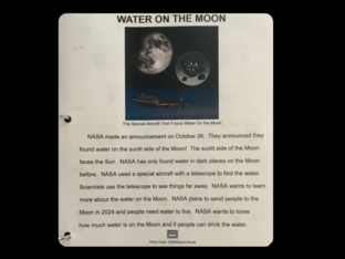 Water on the Moon by Sam R