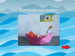 We vouwen een bootje van papier by Pouline Andersen