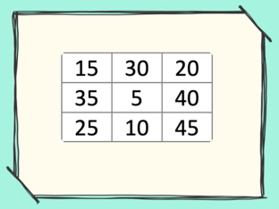 Welk antwoord mist? tafel van 5 by Ilja Jabroer