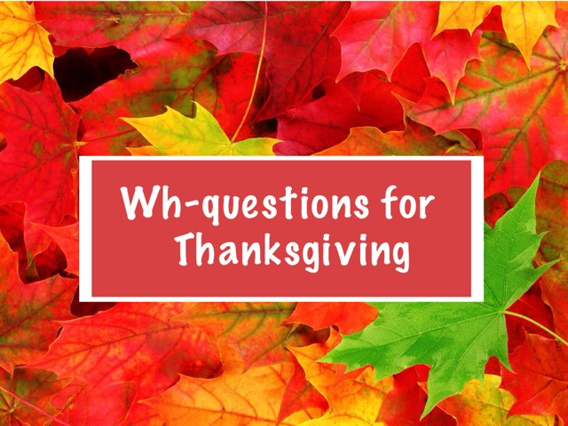 Wh-Questions For Thanksgiving  by Carolyn Mulbach