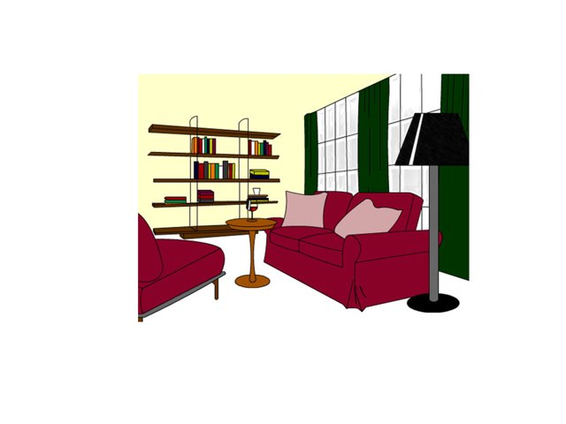 Where's the sofa.  by Wafaa Ibrahim