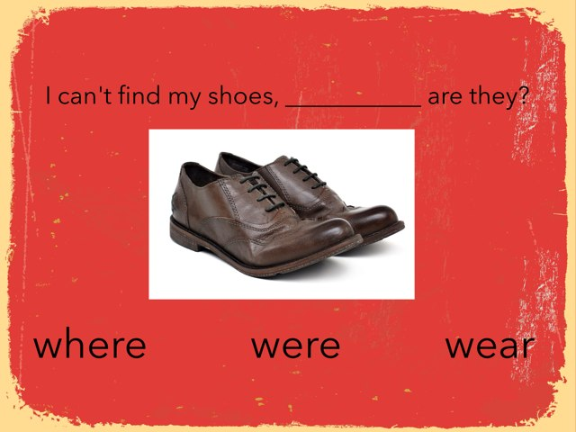 Where/were/wear by StBarts PrimarySchool