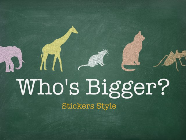 Who's Bigger? Stickers by Yogev Shelly