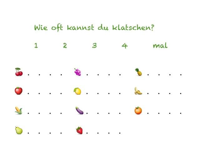 Wie oft kannst du klatschen? by Marina Ruß