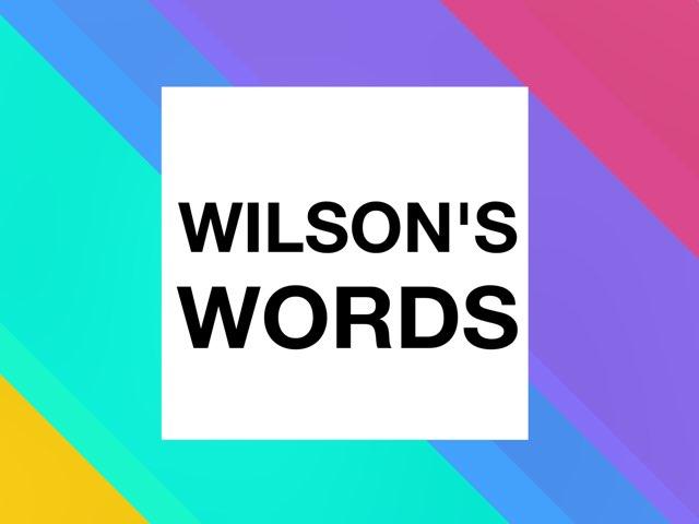 Wilson Words 1 by Michael Falgares