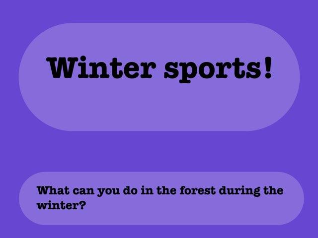 Winter Sports by Vicky Bergeron