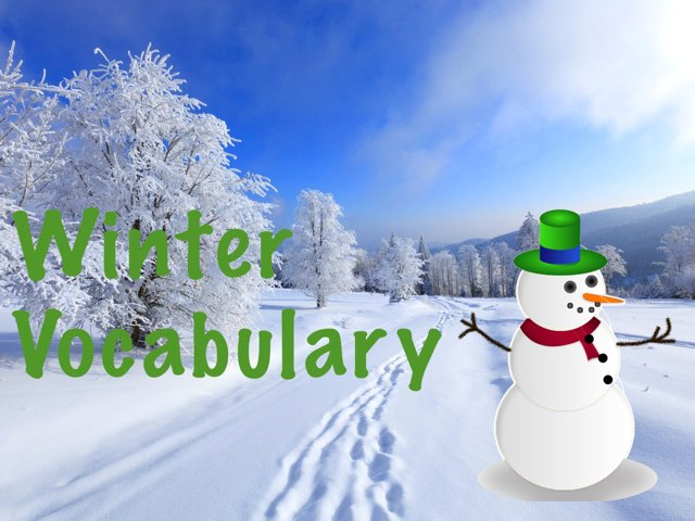 Winter Vocabulary by Erica Lynn