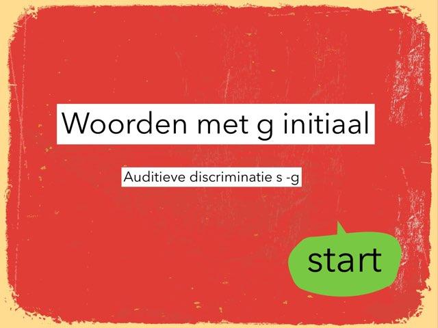 Woorden Met G Initiaal by Annabel Barbé