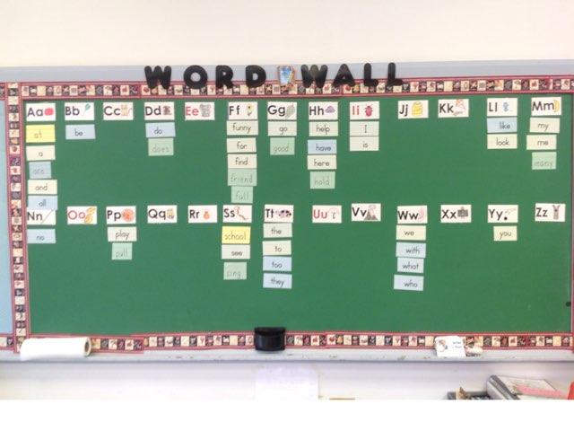 Word Wall by Mae valenzuela