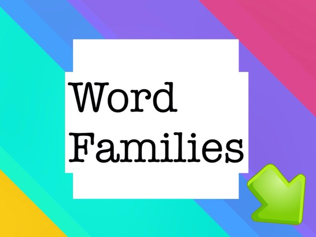 Word families by Angela Awon