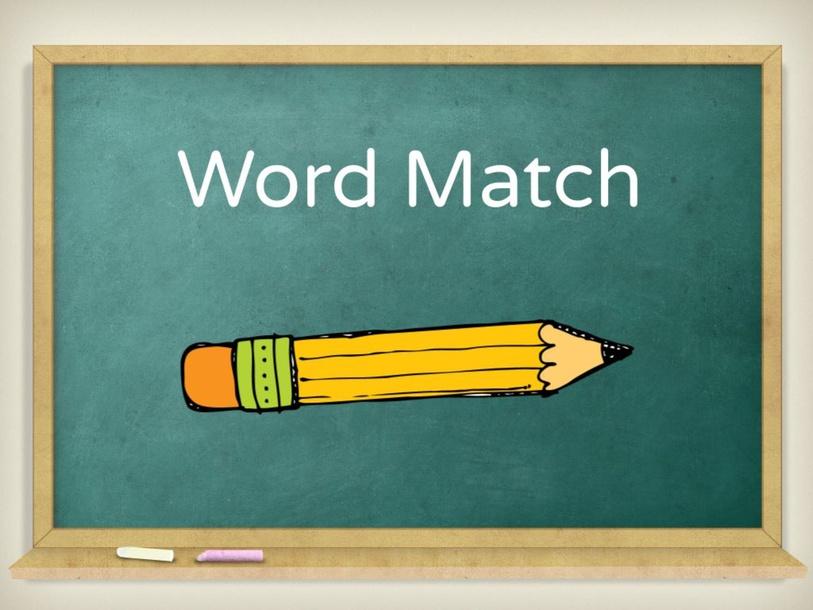 Word Match by Jessica DeWaard