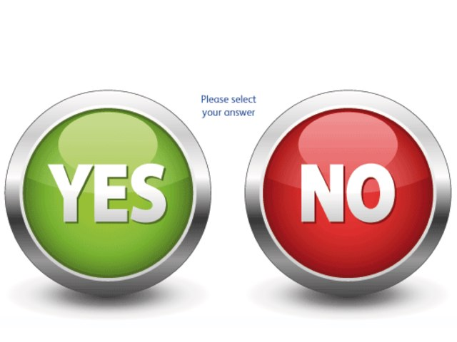 Yes No Board by Wendy Hazelwonder