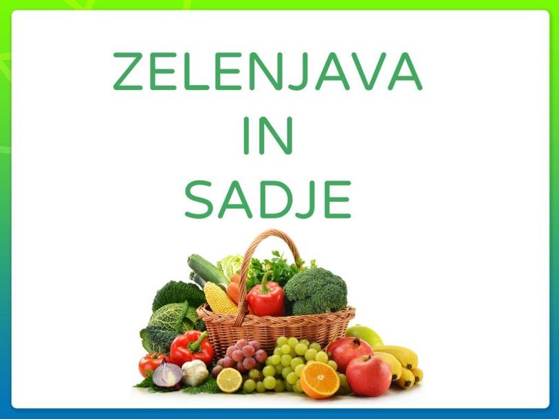 ZELENJAVA IN SADJE by Petra Tomšič