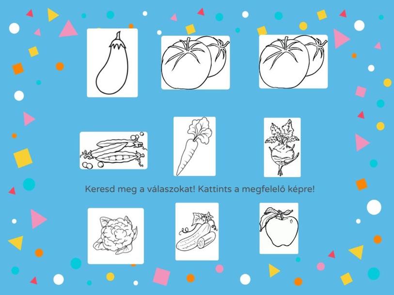Zöldségek fonológiai tudatosság by Nikoletta Csecsődi
