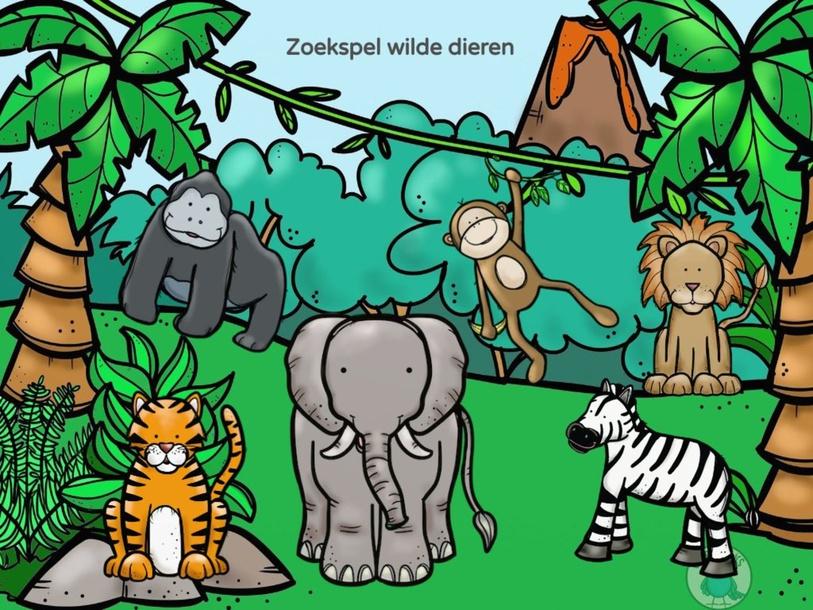 Zoekspel wilde dieren  by Frouke Taillieu