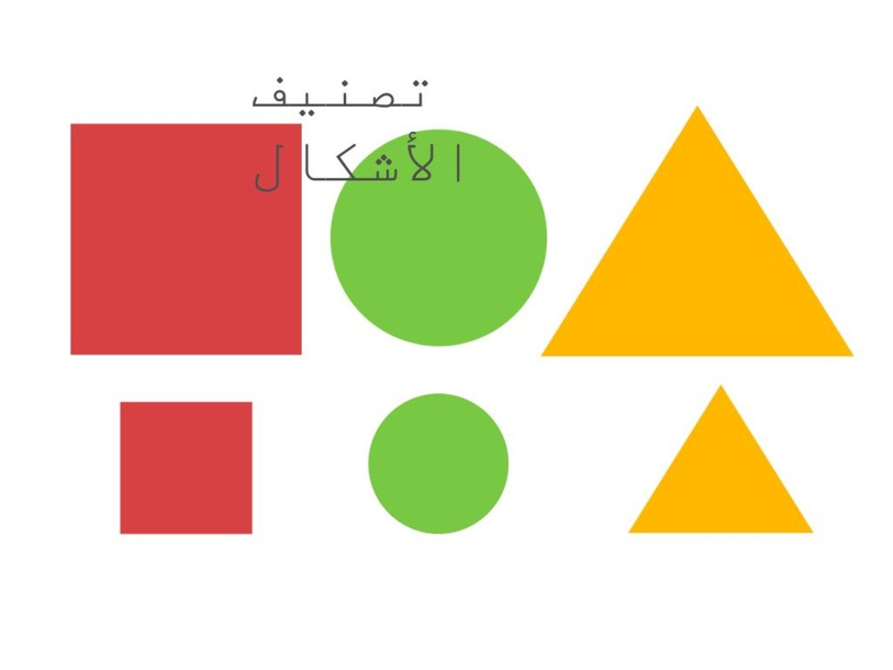 تصنيف الأشكال by جمانه الزهراني