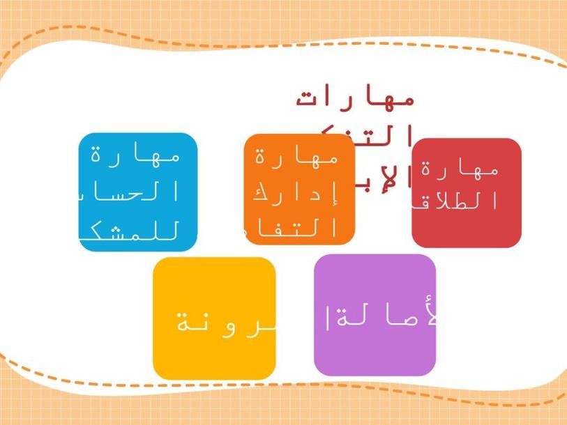 مهارات التفكير by aysha alorini