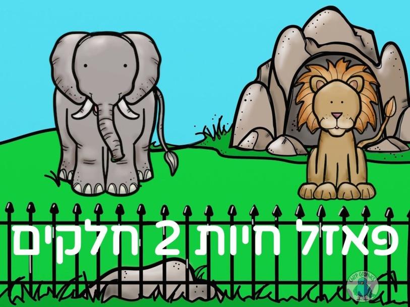 פאזל חיות 2 חלקים by Tom Yairi