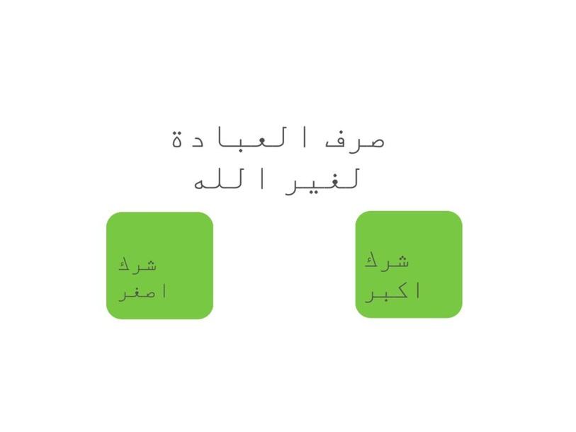 الشرك الاصغر by حصه العميري