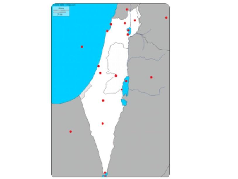 מפת ארץ ישראל by הילה סרוסי