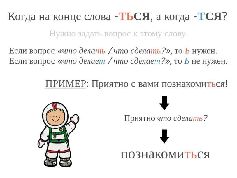 ТЬСЯ или ТСЯ by Maria Slovarium