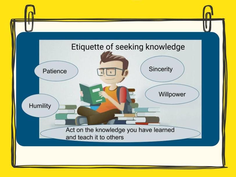 أداب طلب العلم Etiquette of seeking knowledge by Layla Al Qadi