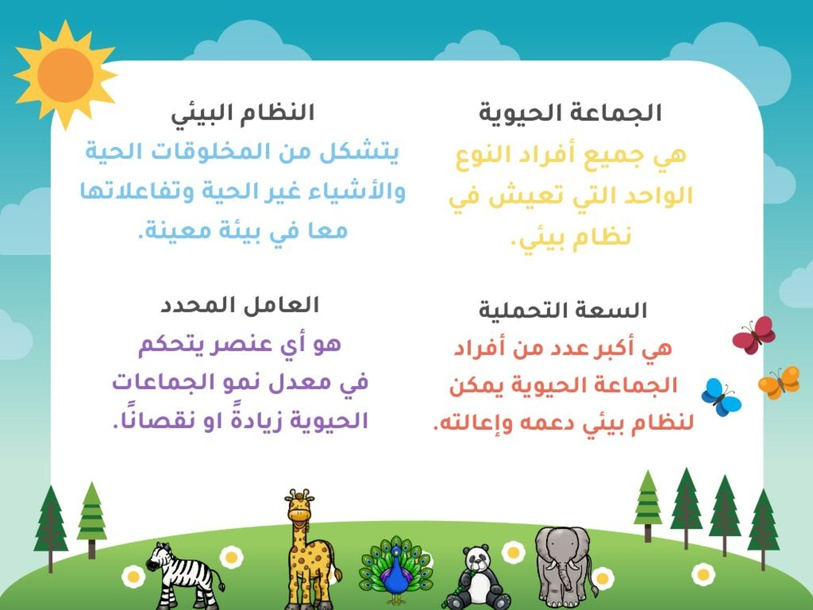 العلاقات في الأنظمة البيئية by هديل ابراهيم