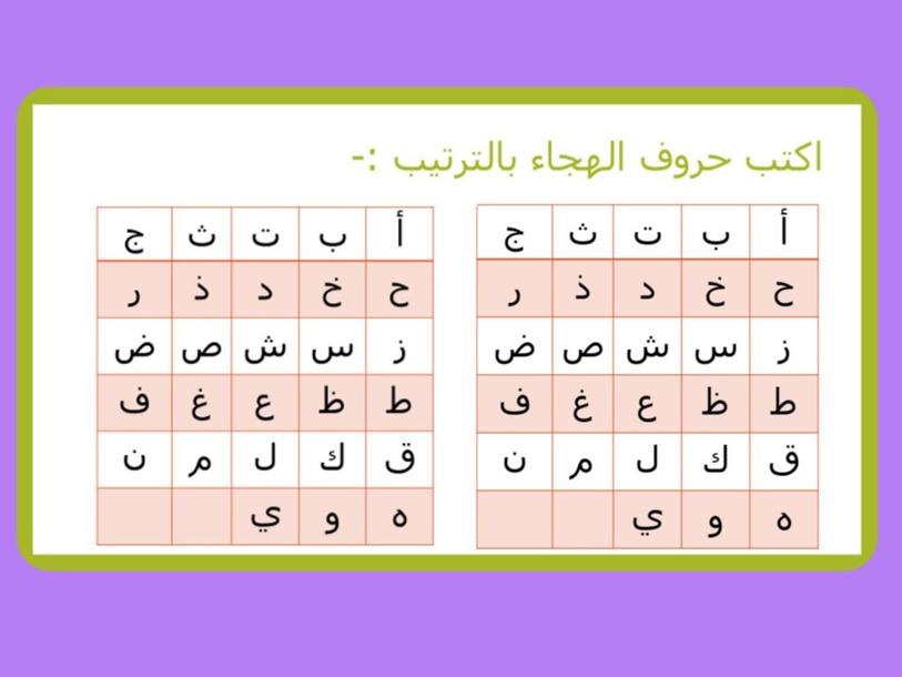 لعبة حروف الهجاء (أ_ج) by laila alzaabi