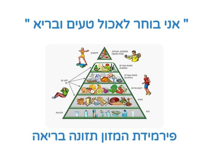 פירמידת המזון by karin cohen