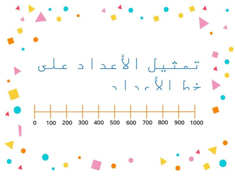 خط الأعداد by rasha qamar