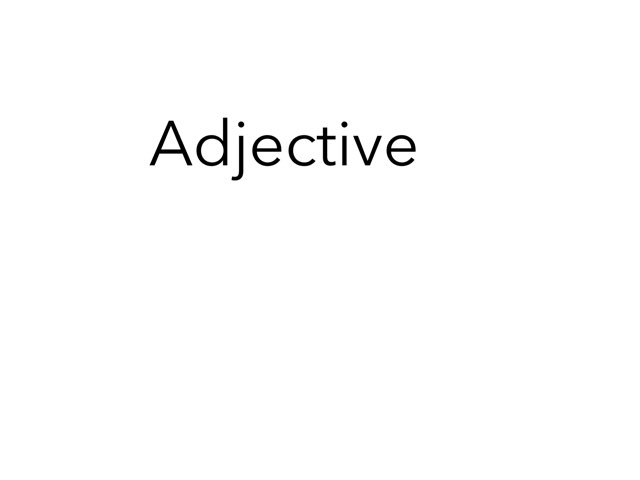 adjective 18 by Room 207