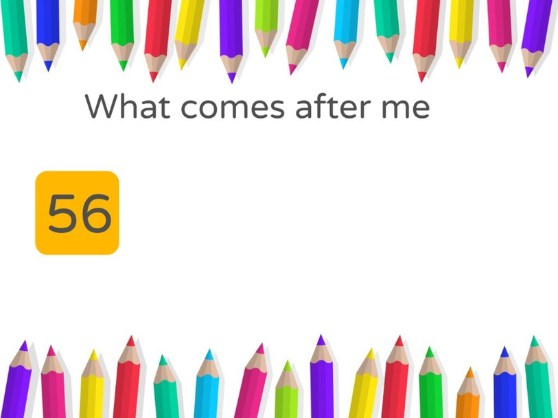 after number  by TinyTap creator