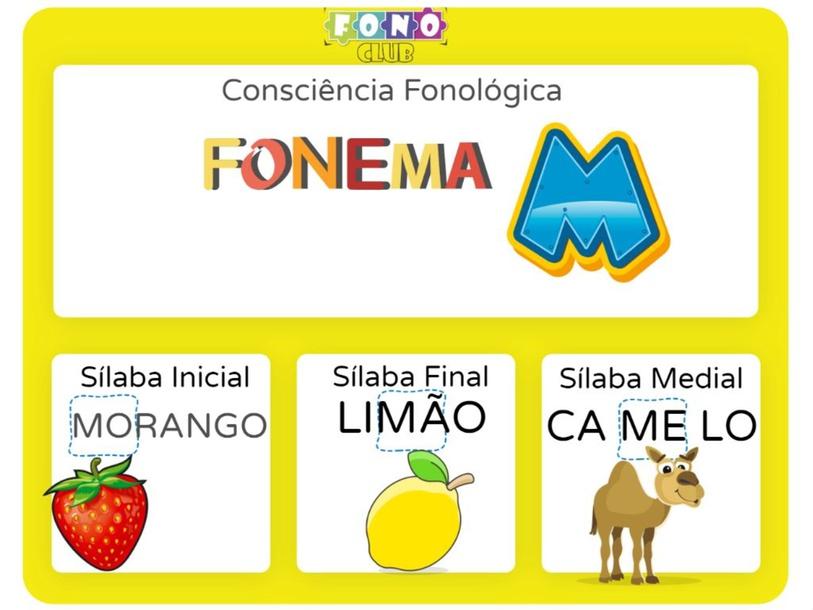 fonema M consciência fonologica by Ana Carolina Povoa