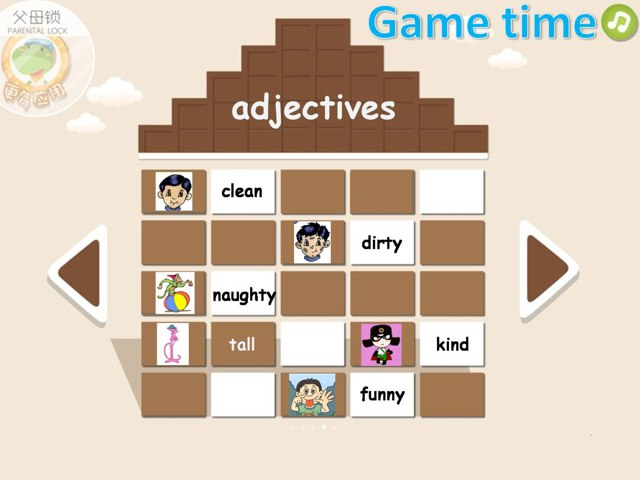 game for adjectives by 丹婷 Hill
